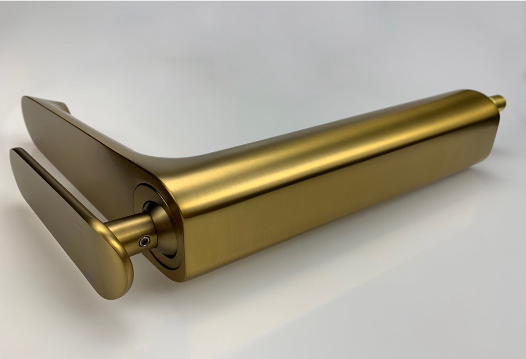 Rubeza Tall Concetto Basin Mixer Tap Brushed Gold - 110 2100TT