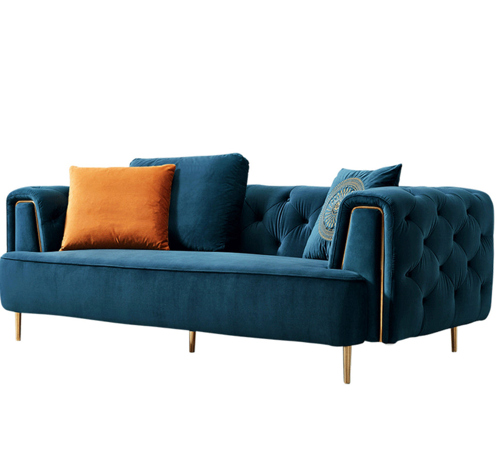 Rubeza Sofia 3 Seater Sofa - Dark Blue