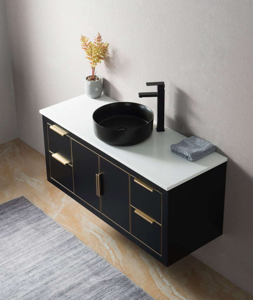 Rubeza 1200mm Dukes Black Vanity Unit - 183348CBH