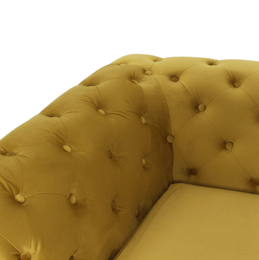 RUBEZA Sloan Collection 3 Seater Sofa - Yellow
