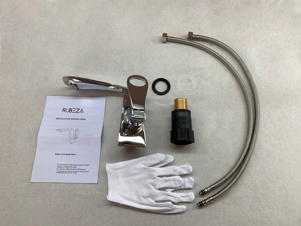 Rubeza Kirsty Chrome Basin Mixer Tap - 116 1100C