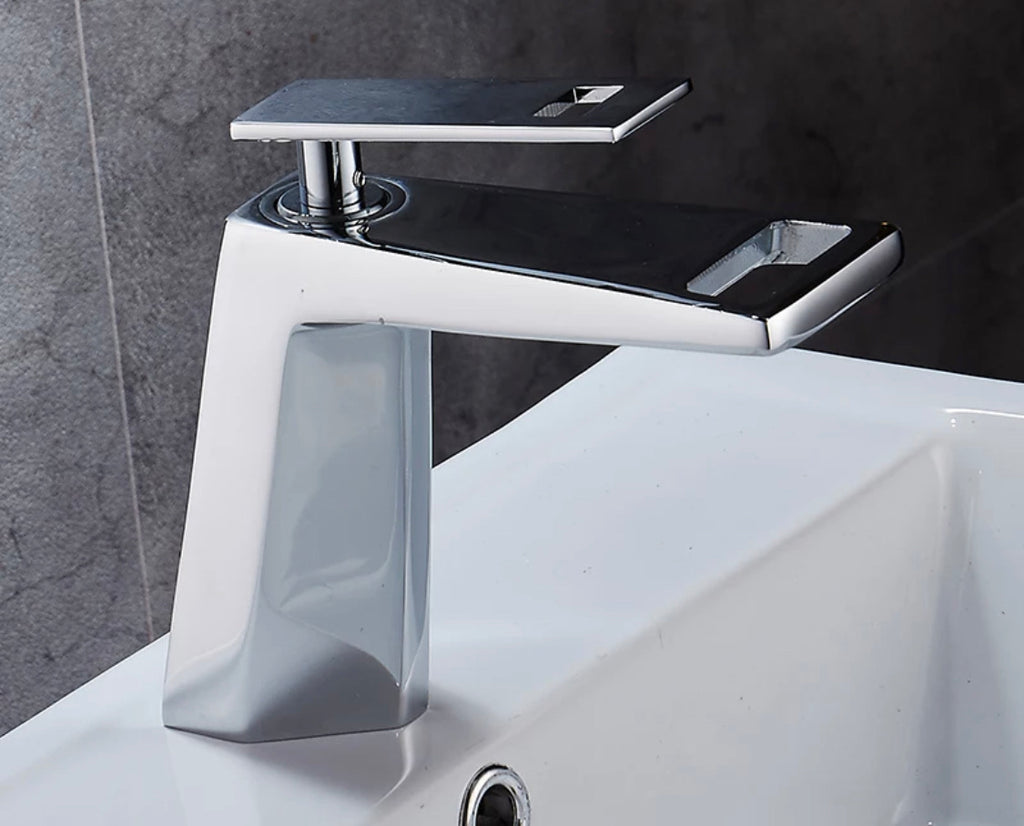 Rubeza Allure Collection Chrome Brass Basin Mixer Tap