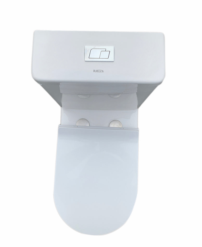 Rubeza Bathroom Rimless Toilet WC Ceramic Close Coupled Cloaked to Wall JY-211