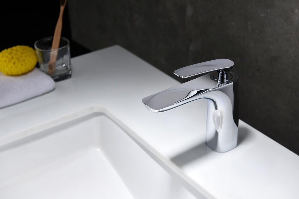Rubeza Caesar Chrome Solid Brass Basin Mixer Tap