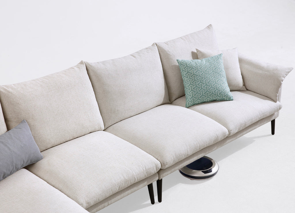 Rubeza Malibu Collection Left Hand Facing Corner Sofa - White Cream