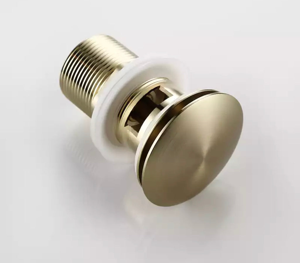 Union Brushed Gold Basin Waste Pop-up Drain plug hole