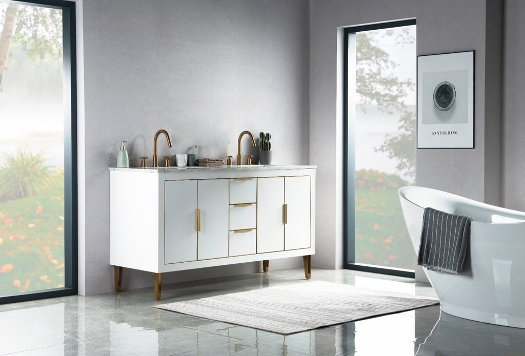 Rubeza 1500mm Dukes White Vanity Unit