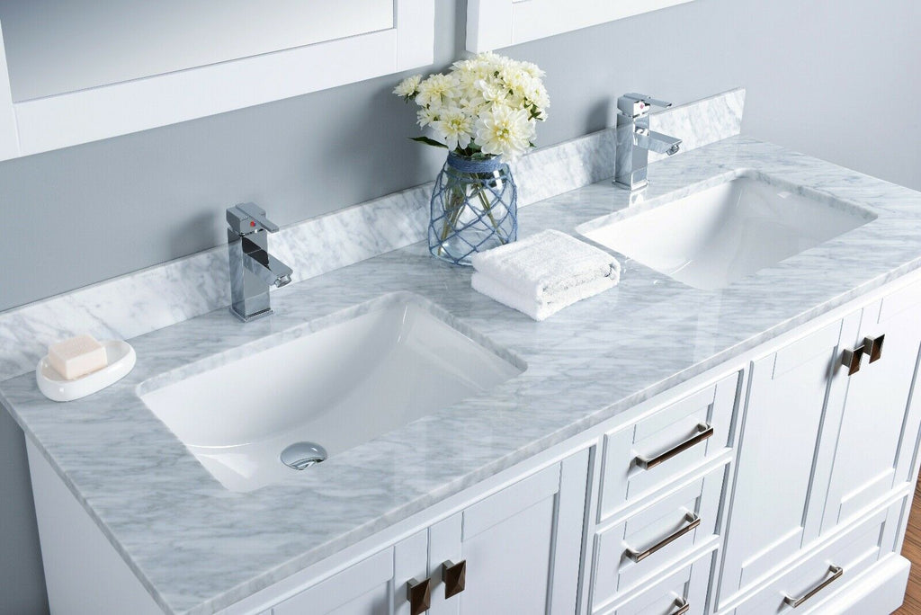 Rubeza 1500mm Charleston Double Vanity Unit with Marble Top Basin Sink