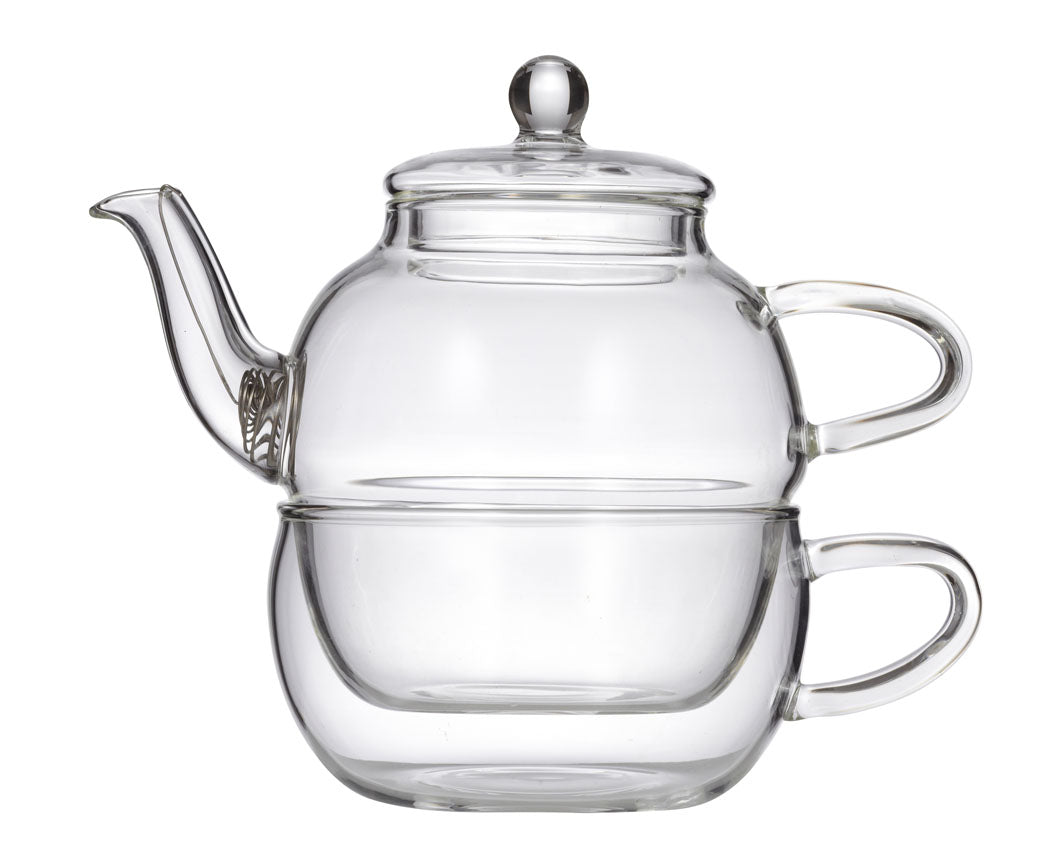 Tea pot and cup combo