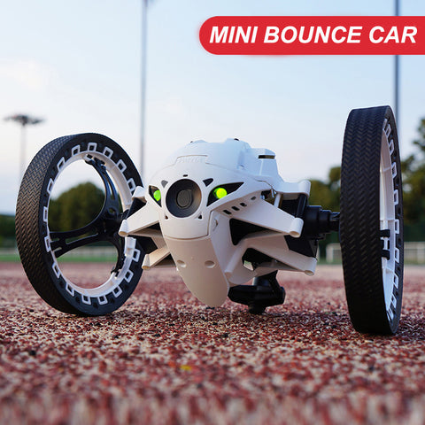 Remote Control  Bounce Car  with Flexible Wheels Rotation LED Night Light