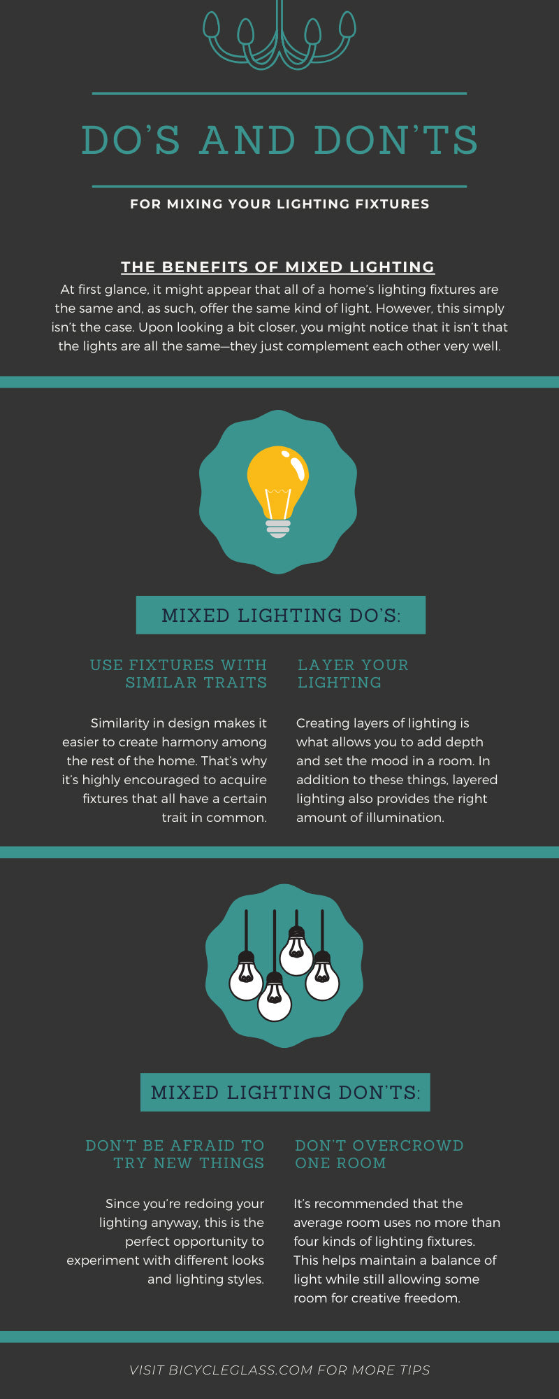 Do's and Don'ts for Mixing Your Lighting Fixtures
