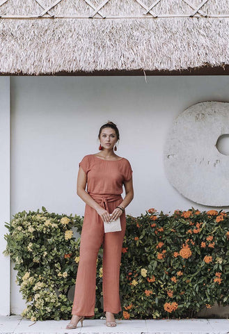 Terracotta Capri Jumpsuit