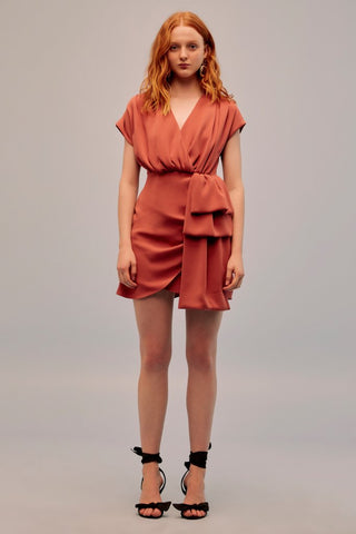 Motor Mini Dress in Burnt Orange