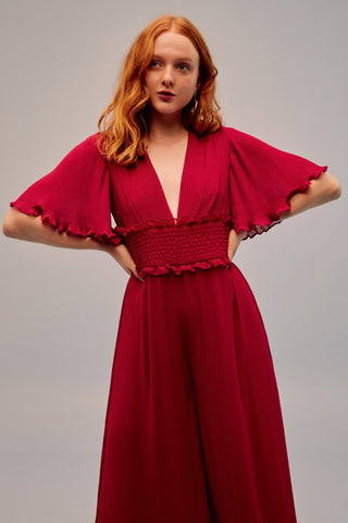 Wanderer Jumpsuit in Raspberry
