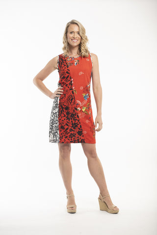 Pergamon Oriental Print A Line Dress by Orientique