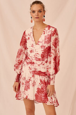 Ivory Rose Floral Enchanted Long Sleeve Dress