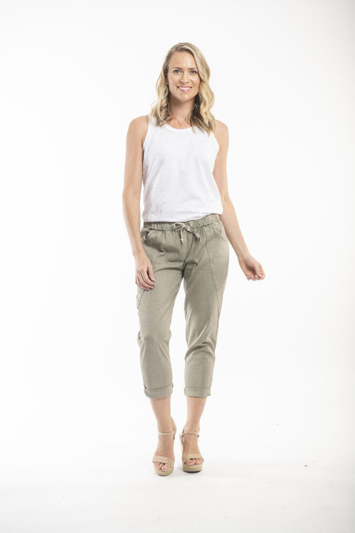 Essentials Olive Relaxed Pant
