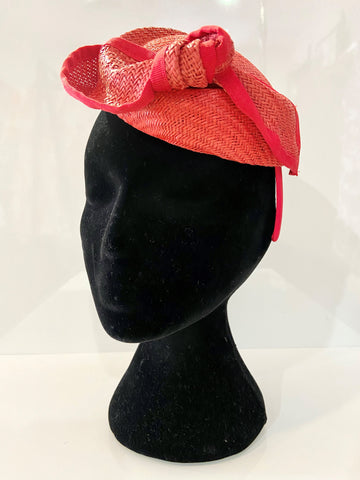 Red Knot Woven Fascinator