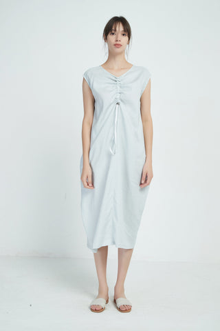 Mist Green Drawstring Dress
