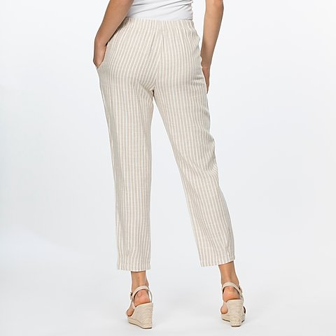 Clarity Stripe Linen Pull on Pant