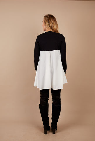 Tunic Knit Upper w Chiffon