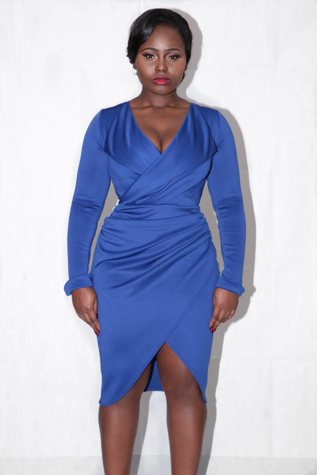 Amour Wrap Dress - Royal Blue
