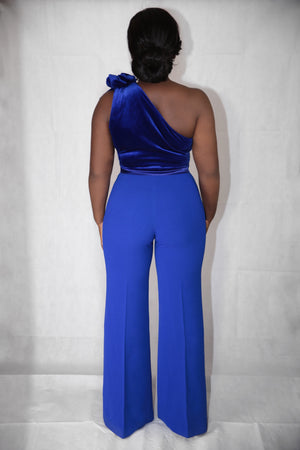 Formation Jumpsuit - Royal Blue