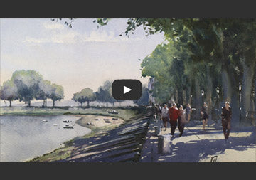 Strolling Along The Bay Painting Tutorial