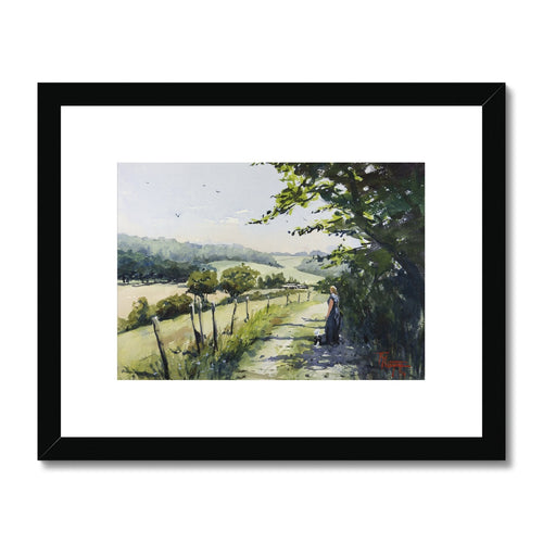 Rural Scene In Normandy Framed & Mounted Print