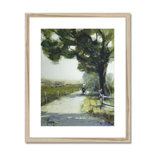 Lonely Cyclist Framed & Mounted Print
