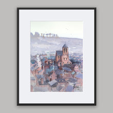 """Saint-Saëns"" framed watercolor painting"