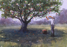 """The Apple Picker"" watercolor painting"