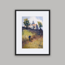 """Varengeville"" framed watercolor painting"