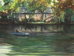 """Mayenne House"" watercolor painting"