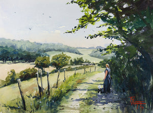 """Rural Scene In Normandy"" watercolor painting"