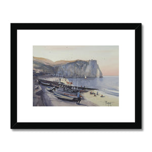 Boats On The Beach Framed & Mounted Print