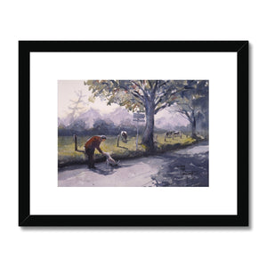Walking The Dog Framed & Mounted Print