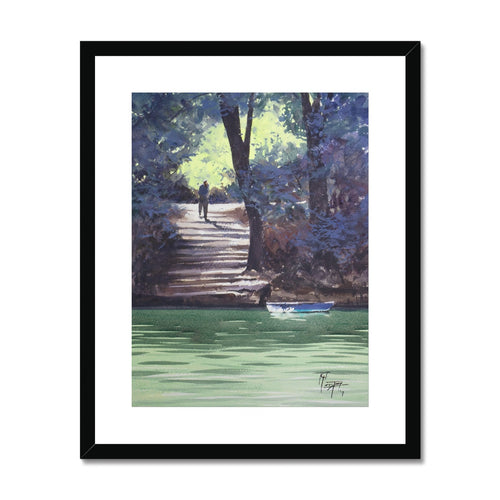 Going To The River Framed & Mounted Print