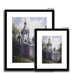 Joan Of Arc Monument In Rouen Framed & Mounted Print