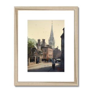 Life In A Norman Town Framed & Mounted Print