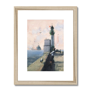 Lighthouse Fishing Framed & Mounted Print