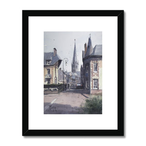 Entering Auffay Framed & Mounted Print