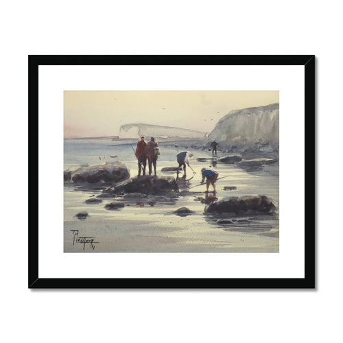 Fishing On Foot Framed & Mounted Print