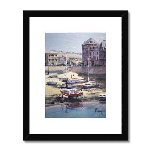 Low Tide In Le Tréport Framed & Mounted Print