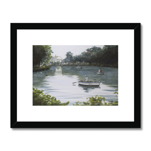 Boating On The Lake Framed & Mounted Print