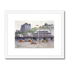 Sunny Day At The Beach In Dieppe Framed & Mounted Print
