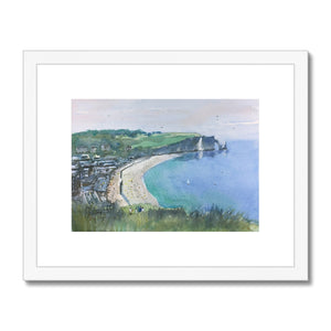 Looking Down Over Etretat Framed & Mounted Print