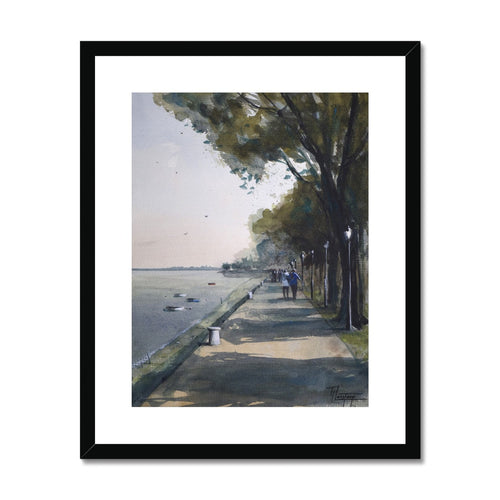 Promenade Framed & Mounted Print
