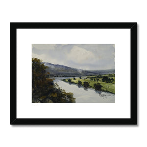 View Of The Orne Valley Framed & Mounted Print