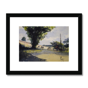Cows On The Hillside Framed & Mounted Print